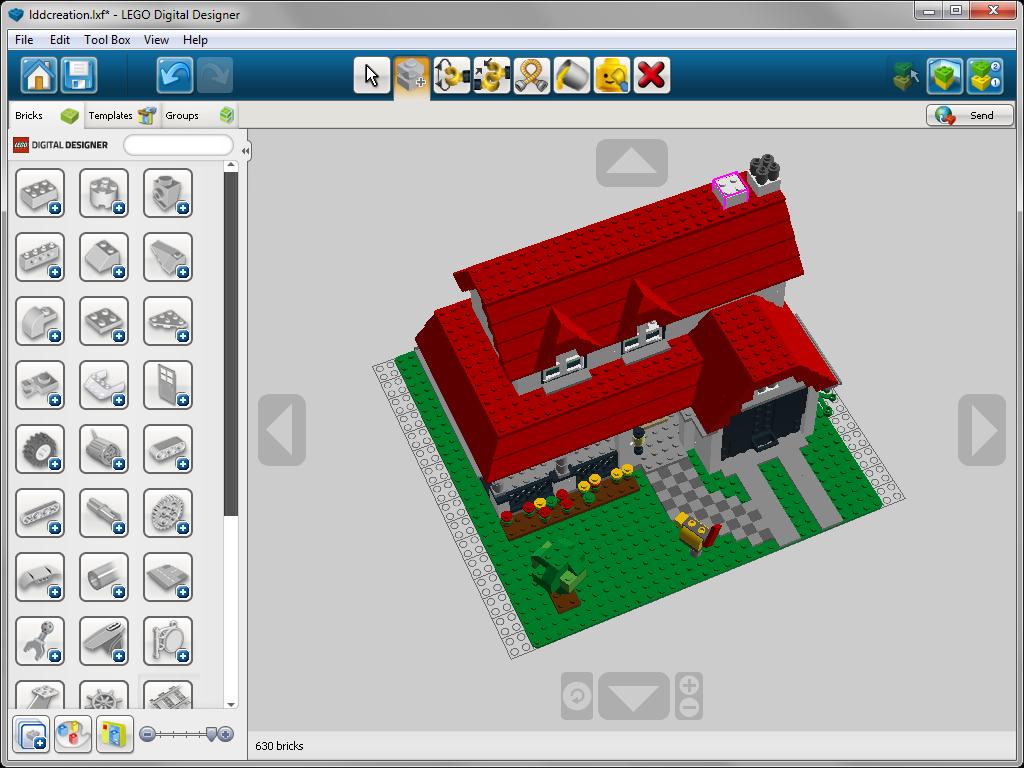 Клонирование элемента в lego Digital Designer