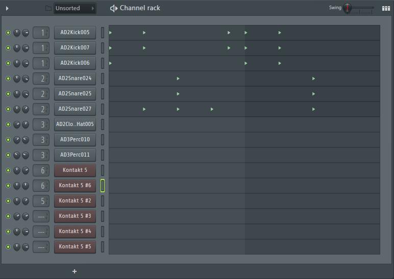 Написание партии ударных в FL Studio