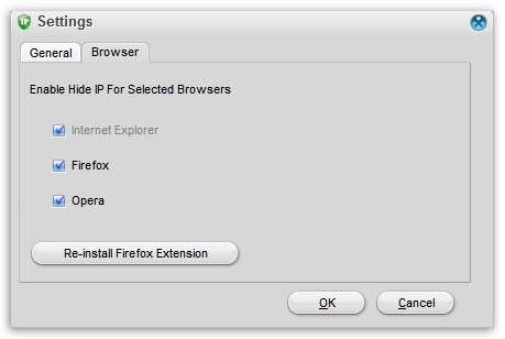 Настройка работы для браузеров в Super Hide IP