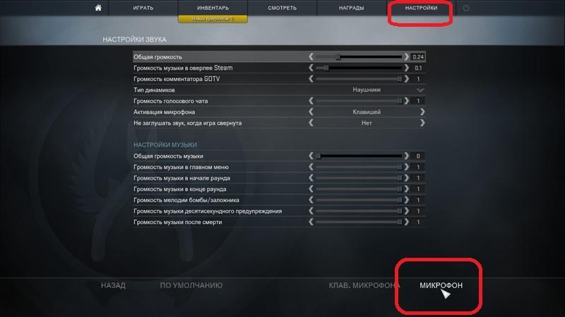 Настройки звука в CS GO для AV Voice Changer Diamond