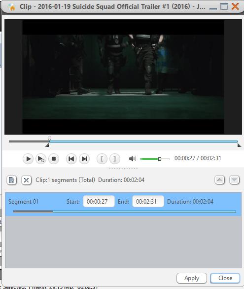 Обрезка видео в Xilisoft DVD Creator