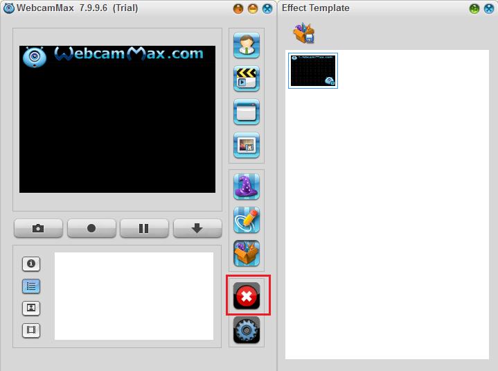 Очистка в WebcamMax