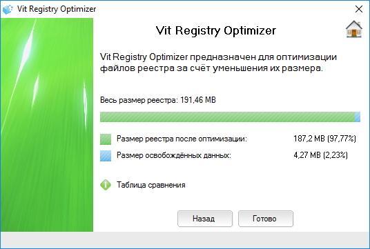 Оптимизация реестра в Vit Regestry Fix