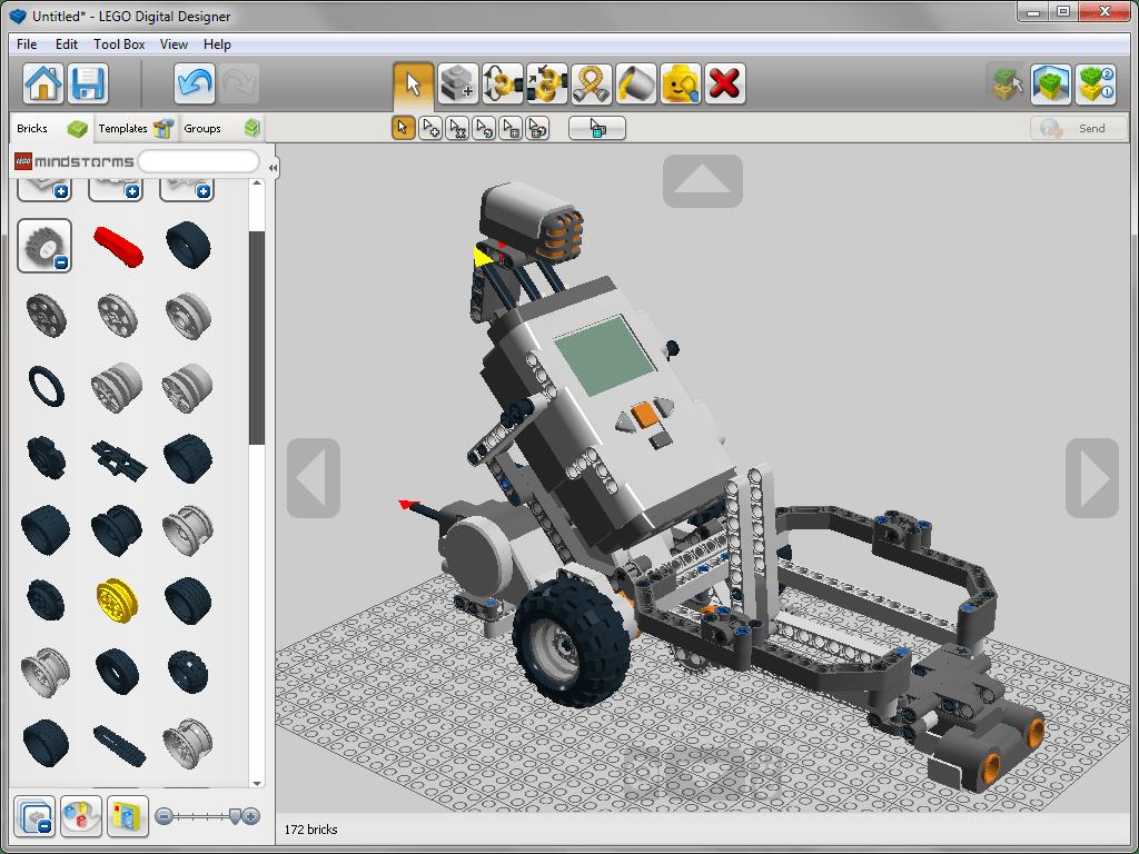 Открытый шаблон в lego Digital Designer