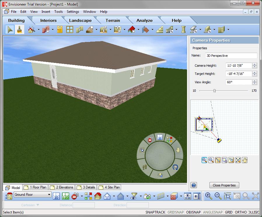 Построенная крыша в Envisioneer Express