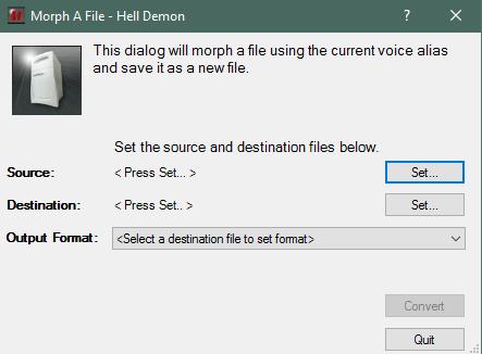 Преобразование файла в MorphVox Pro