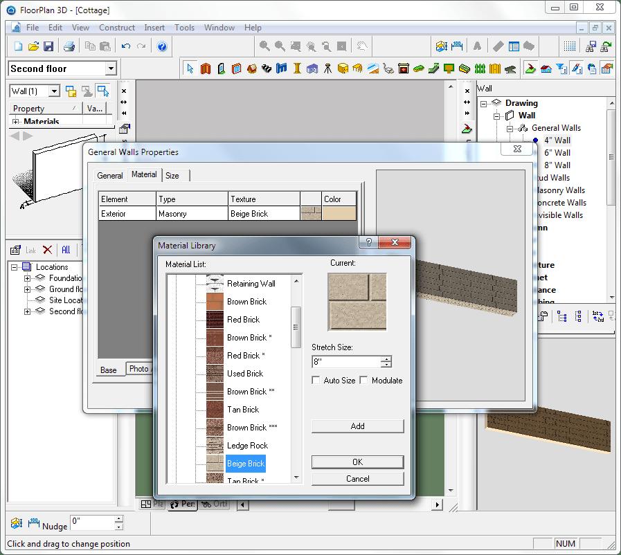 Применение текстур в floorplan 3d