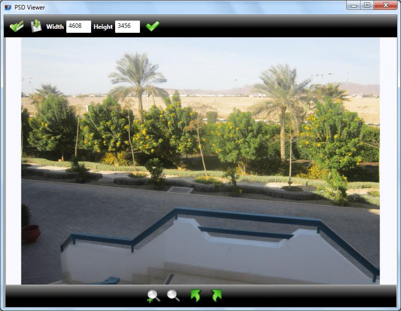 Просмотр файла PSD в программе PSD Viewer