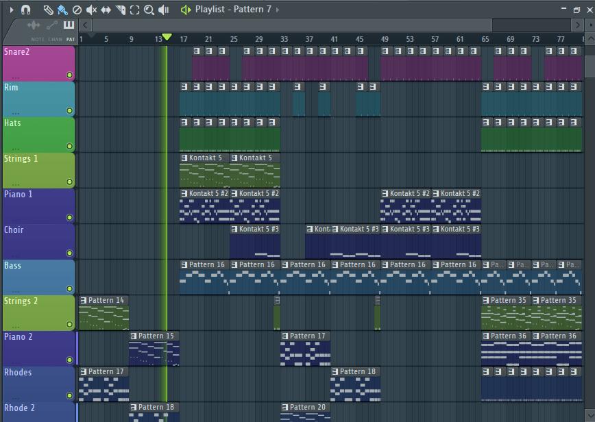 Работа с плейлистом в FL Studio