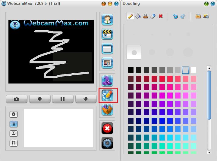 Рисование на видео в WebcamMax