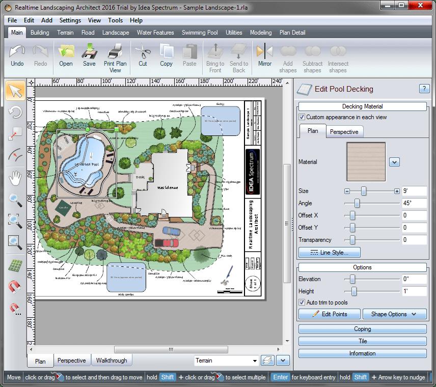 Шаблон проекта в Realtime Landscaping Architect
