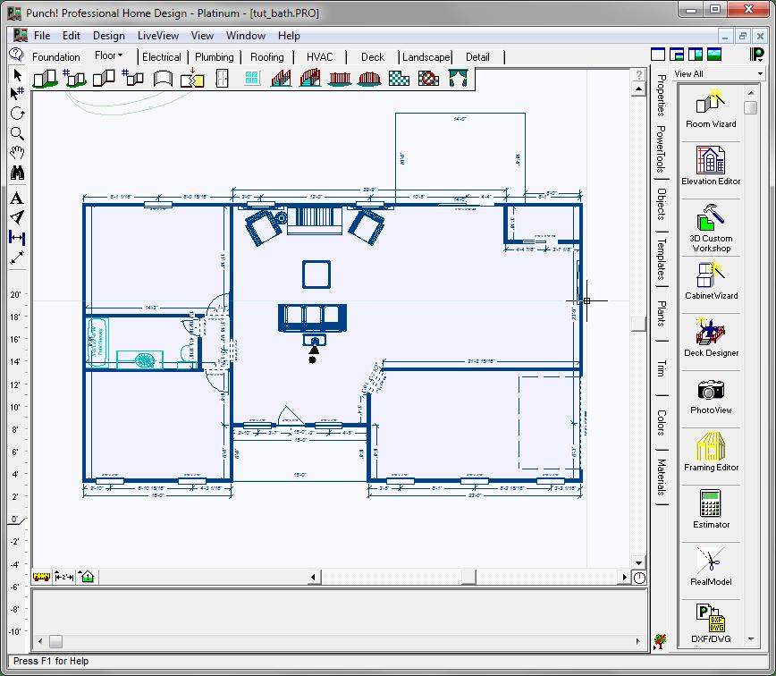 Шаблон здания в Punch Home Design