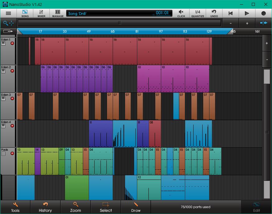 Создание музыкальной композиции в NanoStudio