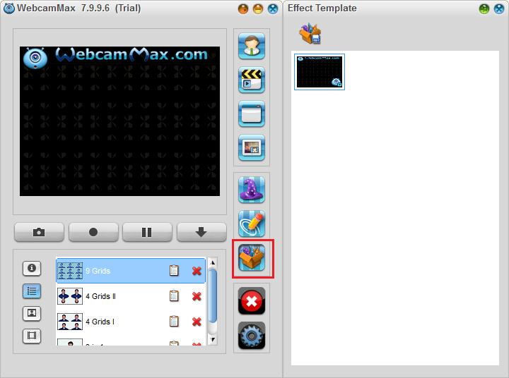 Создание шаблона в WebcamMax