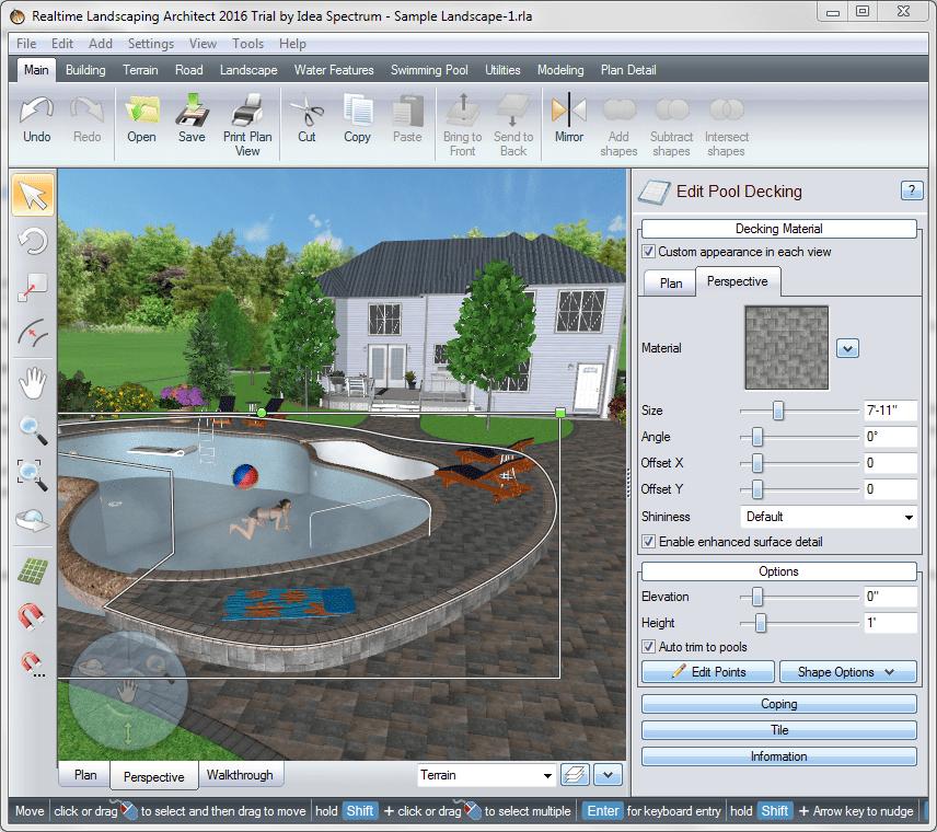 Трехмерный режим в Realtime Landscaping Architect