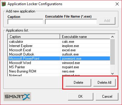 Удаления программ из списка блокировки в AppLocker