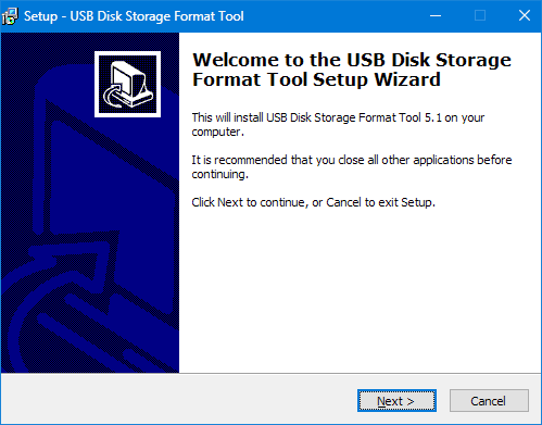 Установка HP USB Disk Storage Format Tool