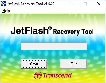 Внешний вид программы JetFlash Recovery Tool