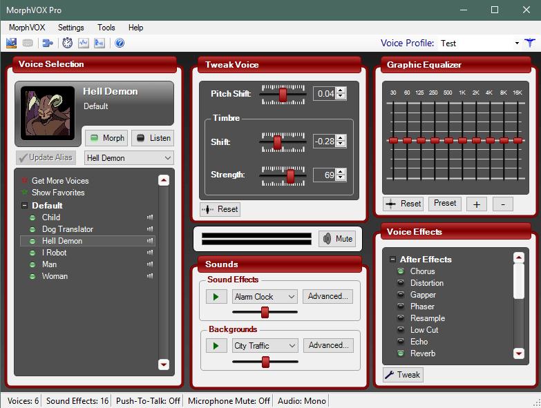 Внешний вид программы MorphVox Pro