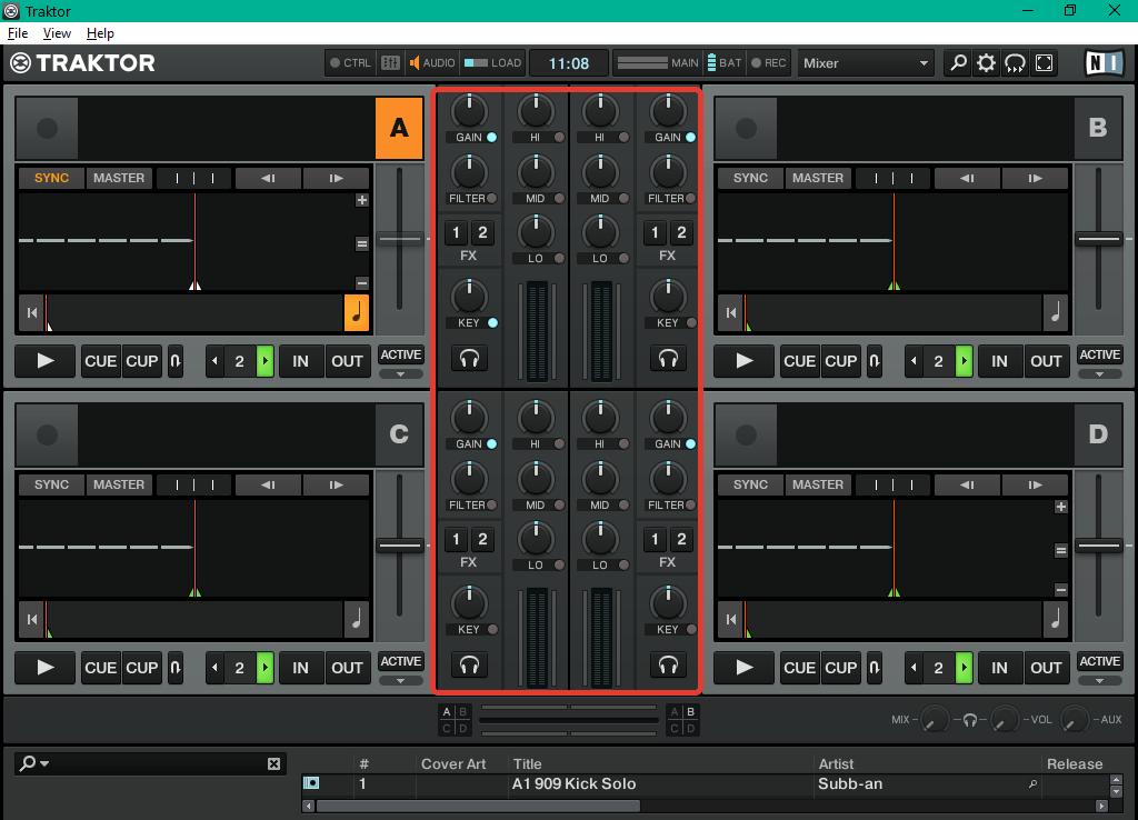 обработка звука в  Traktor Pro