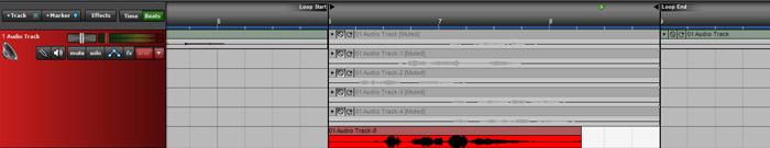 запись аудио в Mixcraft