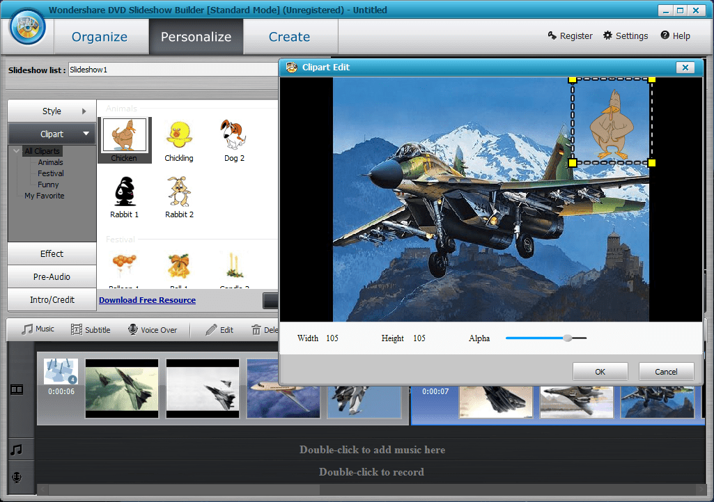 8. клип-арты в wondershare  DVD Slideshow Builder Deluxe