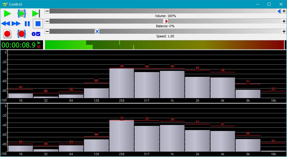 Анализатор аудио в GoldWave