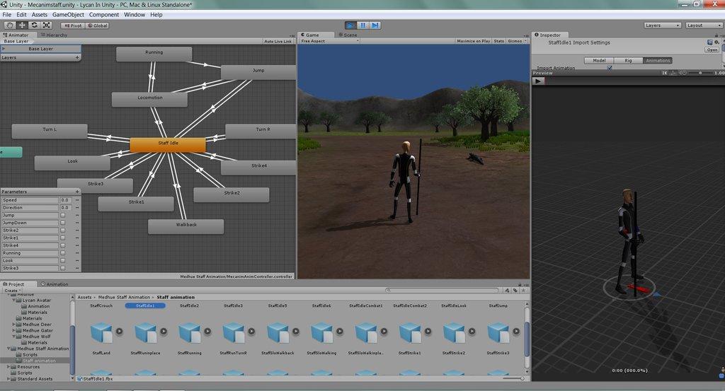 Анимация Unity3D
