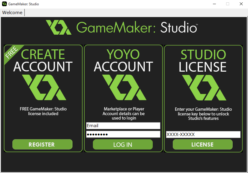 Авторизация Game Maker
