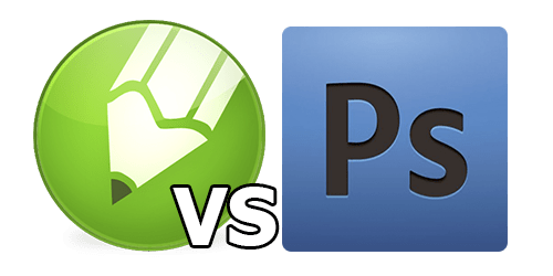 Corel vs Photoshop logo