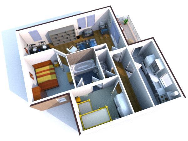 Дизайн Интерьера 3D лого