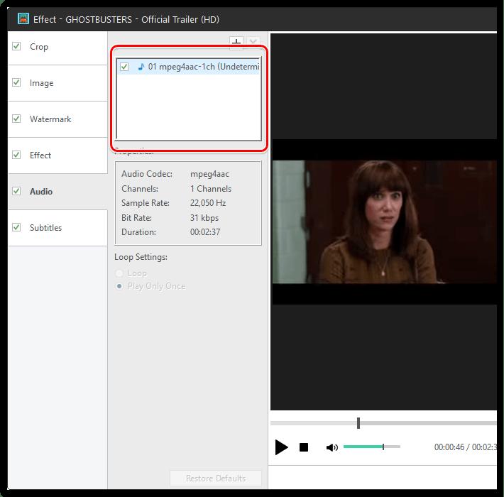 Добавление дополнительных звуковых дорожек в Xilisoft Video Converter