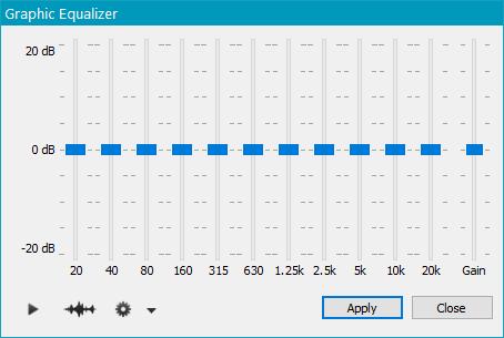 Эквализация (11-полосный эквалайзер) в OcenAudio