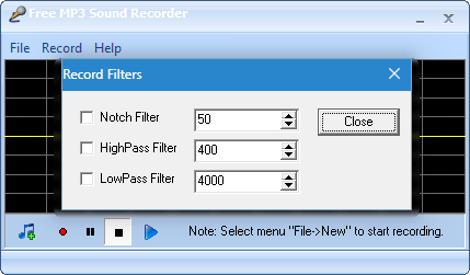 Фильтры Free MP3 Sound Recorder (2)