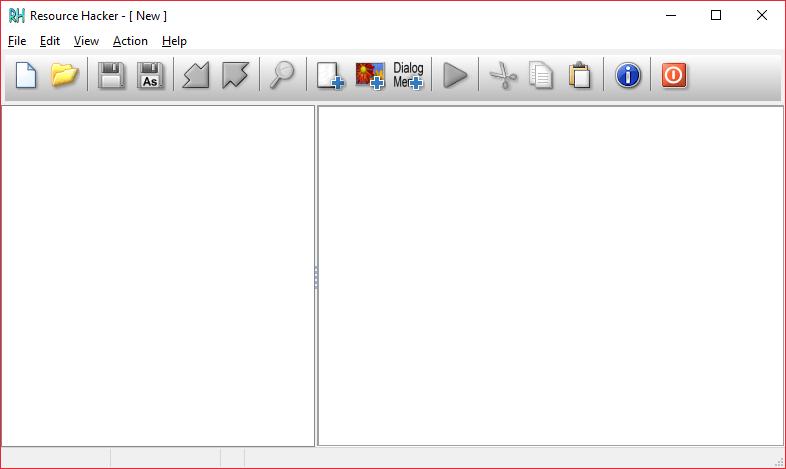 Главное окно Resource Hacker для Программы для русификации программ