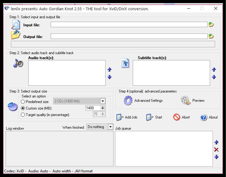Конвертирование DVD в AutoGK