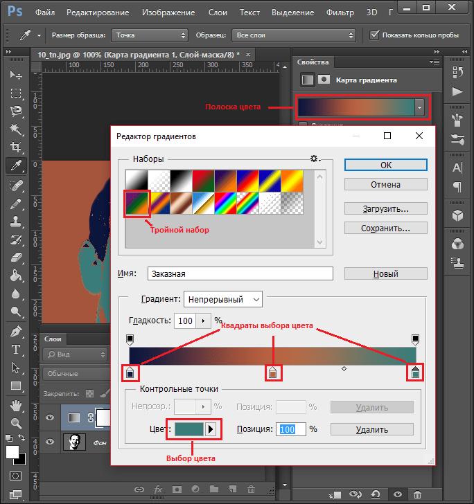 Коррекция цвета для Как сделать арт из фото