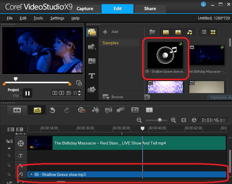 Наложение музыки на видео в Ulead VideoStudio