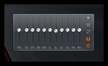 Настройка аудио в Zoom Player