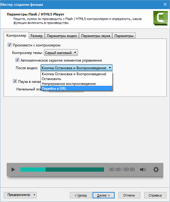 Настройка формата MP4-Flash Camtasia Studio 8 (3)