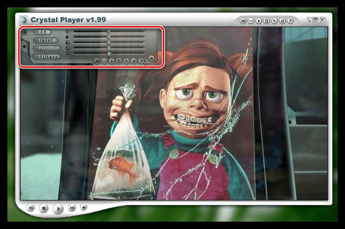 Настройка видео в Crystal Player