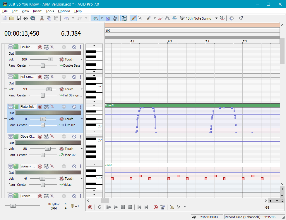 Обработка и редактирование в Sony Acid Pro