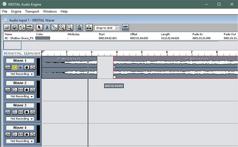 Обрезка музыки в Kristal Audio Engine