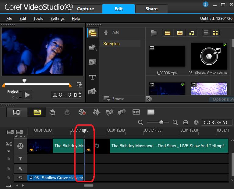 Обрезка видео в Ulead VideoStudio