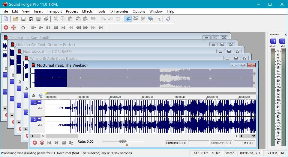 Пакетная обработка файлов в Sound Forge Pro