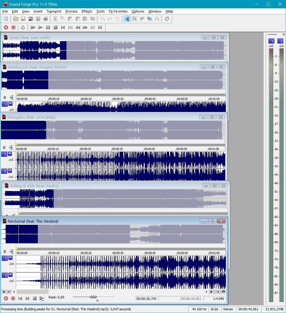 Пакетная обработка в Sound Forge Pro