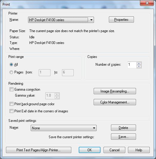 Печать в программе ACD FotoSlate