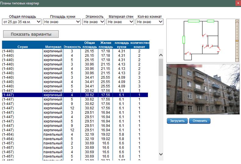 Планы типовых квартир в Столплит