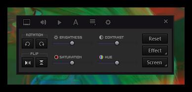 Применение эффектов и фильтров в KMPlayer
