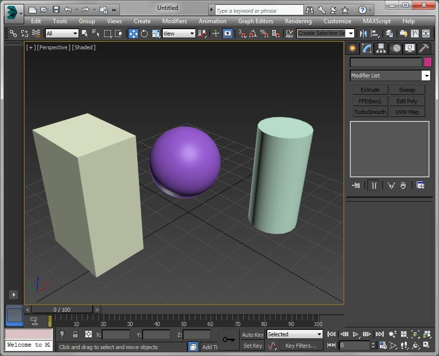 Простое текстурирование в 3ds Max 1